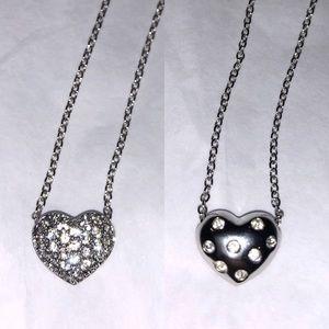 Swarovski Reversible Crystal Heart Necklace